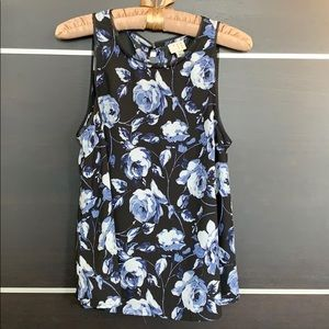 A New Day Floral Dressy Sleeveless Top